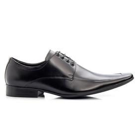 Sapato Social Masculino Preto em Couro De Amarrar ... - MADOK