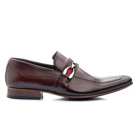 Sapato Social Marrom de Couro com Fivela - 312M - MADOK