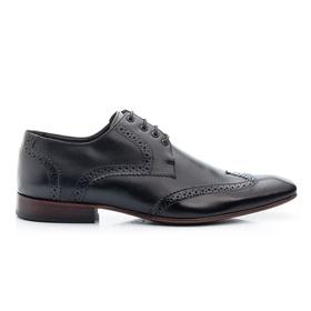 Sapato Social Preto Clássico Solado de Couro Roma ... - MADOK