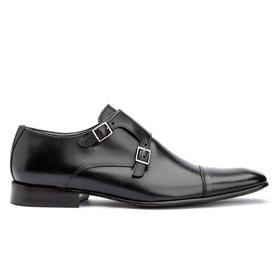 Sapato Social Preto Solado de Couro Roma - 521 P - MADOK