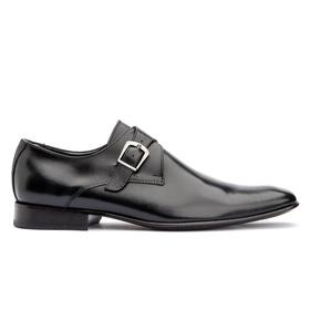 Sapato Social Preto Solado de Couro Roma - 534 P - MADOK