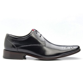 Sapato Social Preto Brogue de Amarrar - 659 P - MADOK