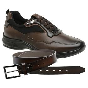 Sapato Jota Pe Marrom 4K Technology + Cinto de Cou... - MADOK