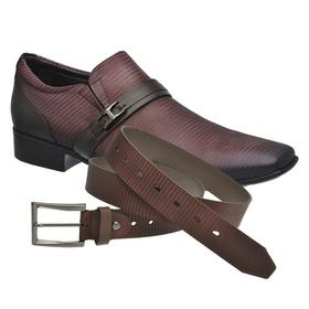Sapato Social Jota Pe Vinho Air Phoenix + Cinto de... - MADOK
