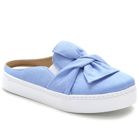 Tênis Mule Feminino Jeans Conforto Julia Andara - ... - MADOK