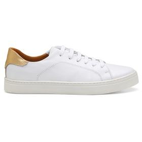 Tênis Casual Feminino Branco Ouro Conforto - 2500... - MADOK