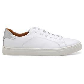 Tênis Casual Feminino Branco Prata Conforto - 250... - MADOK