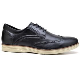 Sapato Masculino Preto em Couro Comfort - 9200 P - MADOK