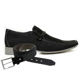 Sapato Casual Jota Pe Jeans Preto Air Diesel + Cin... - MADOK