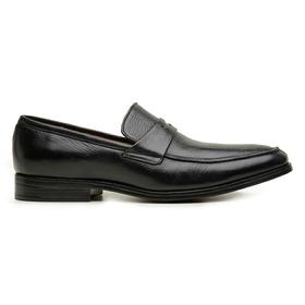 Sapato Social Couro Preto Confort - 60459 P - MADOK