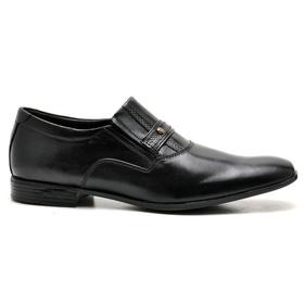 Sapato Social Couro Preto - 7590 PT - MADOK