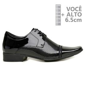 Sapato com Salto Interno Jota Pe Verniz Preto Grow... - MADOK