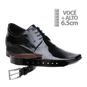 Sapato com Salto Interno Jota Pe Preto Grow Air Ve... - MADOK