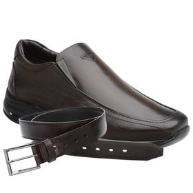 Sapato Jota Pe 3D Air Imax Marrom + Cinto de Couro... - MADOK