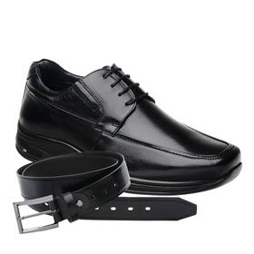 Sapato Jota Pe 3D Preto Air Imax + Cinto de Couro ... - MADOK