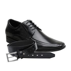 Sapato Social Jota Pe Preto Air King + Cinto de Co... - MADOK