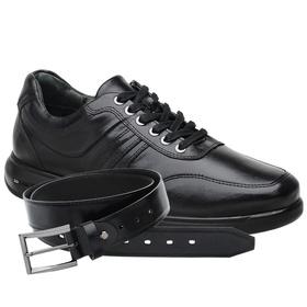Sapato Jota Pe 3D Total Air Preto + Cinto de Couro... - MADOK