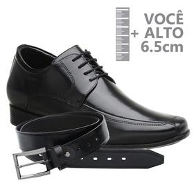 Sapato com Salto Interno Jota Pe Preto Grow Air Ki... - MADOK
