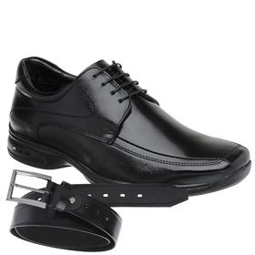 Sapato Jota Pe 3D Preto Air Vision + Cinto de Cour... - MADOK