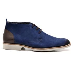Bota Casual Azul Couro Nobuck Oxford - 038 AZ - MADOK