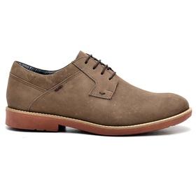 Sapato Casual Couro Nobuck Oxford Bege - 033 BG - MADOK