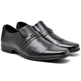Sapato Social Preto em Couro - 2005 P - MADOK