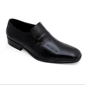 Sapato Social Preto em Couro - 40018 P - MADOK