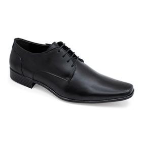 Sapato Social Preto em Couro Comfort - 539001 PT - MADOK