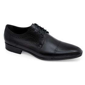 Sapato Social Preto em Couro - 567002 P - MADOK
