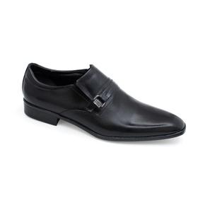 Sapato Social Preto em Couro Laser - 567004 P - MADOK