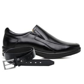 Sapato Jota Pe Preto 3D Air Soft Space + Cinto de ... - MADOK