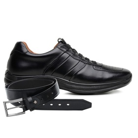 Sapato Jota Pe Preto 4K Technology Elástico + Cint... - MADOK