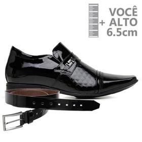Sapato com Salto Interno Jota Pe Preto Verniz Air ... - MADOK