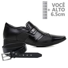 Sapato com Salto Interno Jota Pe Preto Grow Air Pi... - MADOK