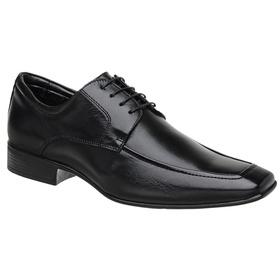Sapato Jota Pe Couro Preto Manhattan - 40056 P - MADOK