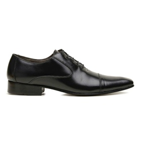 Sapato Social Couro Preto Premium Executive - 558... - MADOK
