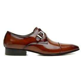 Sapato Social Couro Whisky Fume Premium Executive ... - MADOK