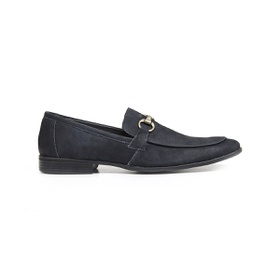 Sapato Casual Couro Marinho Nobuck - 58850 AZ - MADOK