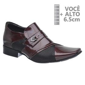 Sapato com Salto Interno Jota Pe Vinho Grow Air Pr... - MADOK