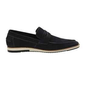 Sapato Casual Marinho Couro Nobuck - 24513 AZ - MADOK