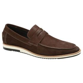 Sapato Casual Couro Café Nobuck - 24513 CF - MADOK