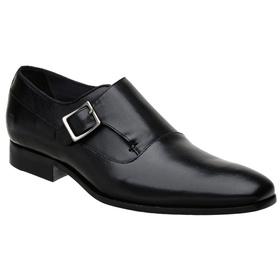 Sapato Social Preto em Couro - 60054 P - MADOK