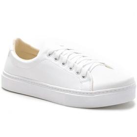 Tênis Casual Feminino Branco Conforto - 1002 B - MADOK