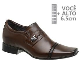 Sapato com Salto Interno Jota Pe Marrom Grow Air ... - MADOK