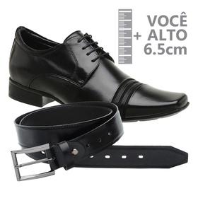 Sapato com Salto Interno Preto Jota Pe Grow Air + ... - MADOK