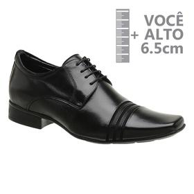 Sapato com Salto Interno Preto Jota Pe Grow Air Co... - MADOK