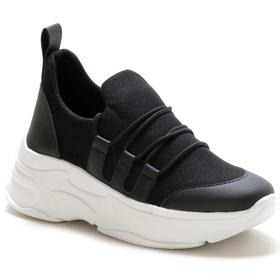 Tênis Feminino Sneaker Chunky Preto - 4000 P - MADOK