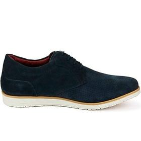 Sapato Masculino Oxford Marinho em Camurça Comfort... - MADOK