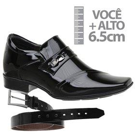 fb042304e Sapato Social Jota Pe Preto Montblanc Gold + Cinto Verniz Preto | MADOK