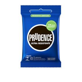 Preservativo Prudence Ultra Resistente 3un (00386) - Padrão - atacadostar.com.br